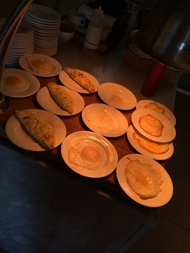 ロッテホテルグアムのクラブラウンジ 朝食メニュー 卵