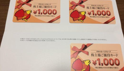 【株主優待】すかいらーくから優待カードが届きました(3回目)