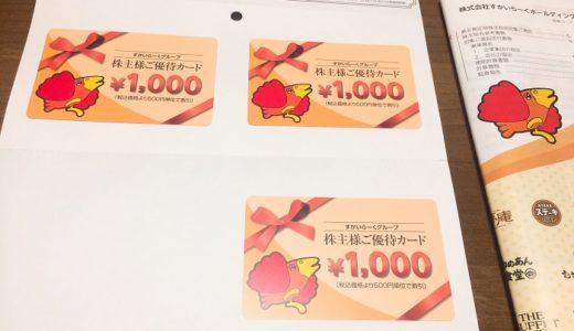 【株主優待】すかいらーくから優待カードが届きました(4回目)