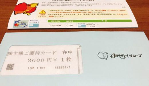 【株主優待】すかいらーくから優待カードが届きました(6回目)